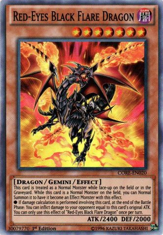 Red-Eyes Black Flare Dragon - CORE-EN020 - Super Rare - 1st Edition