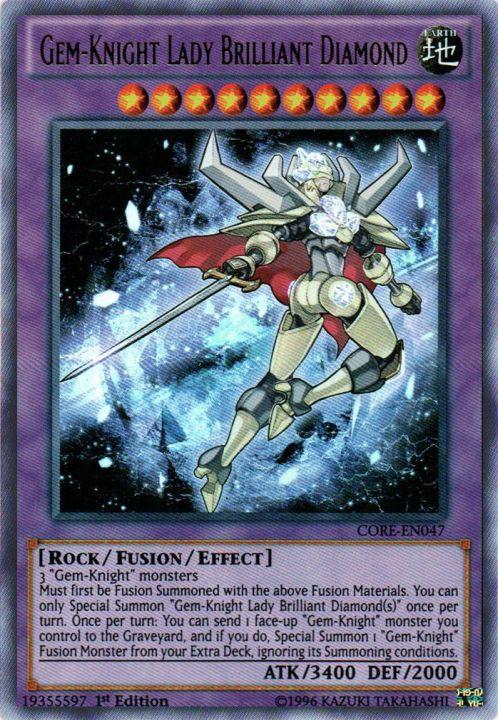 Gem-Knight Lady Brilliant Diamond - CORE-EN047 - Ultra Rare - 1st Edition
