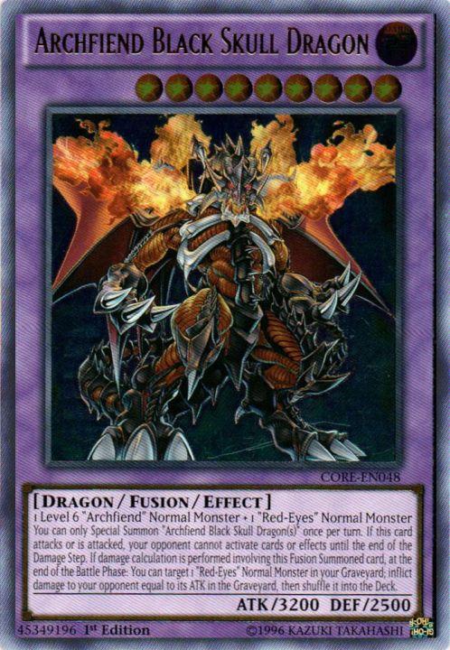 Archfiend Black Skull Dragon - CORE-EN048 - Ultimate Rare - 1st Edition