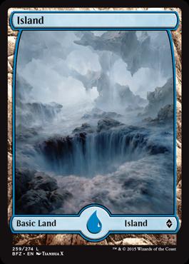 Island (259) - Foil (Full Art)