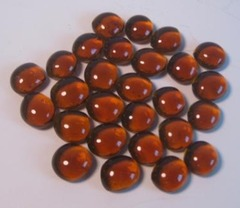 Glass Gaming Stones - AMBER 20+ (chx01129)
