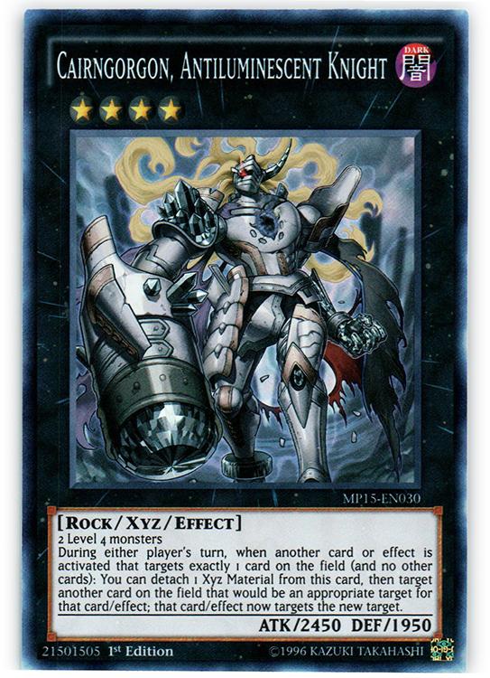 Cairngorgon, Antiluminescent Knight - MP15-EN030 - Super Rare - 1st Edition