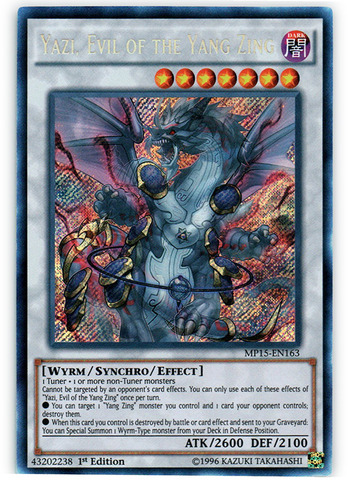 Yazi, Evil of the Yang Zing - MP15-EN163 - Secret Rare - 1st Edition