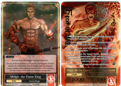 Melgis, the Flame King // Melgis, the One Charmed by the Demon Sword - SKL-027 // SKL-027J - R - 1st Edition (Full Art)