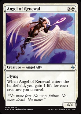 Angel of Renewal - Foil