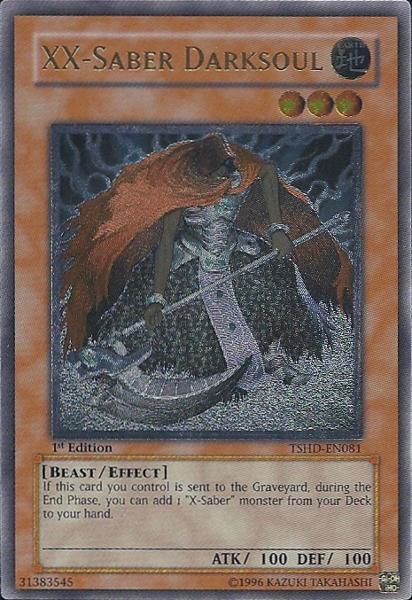 XX-Saber Darksoul - TSHD-EN081 - Ultimate Rare - 1st Edition