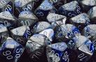 Gemini Polyhedral Blue-Steel / White 7 Die Set - CHX26423