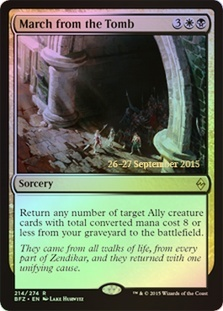 March from the Tomb - Foil - Prerelease Promo