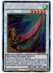 Hi-Speedroid Chanbara - HSRD-EN010 - Secret Rare - 1st Edition on Channel Fireball