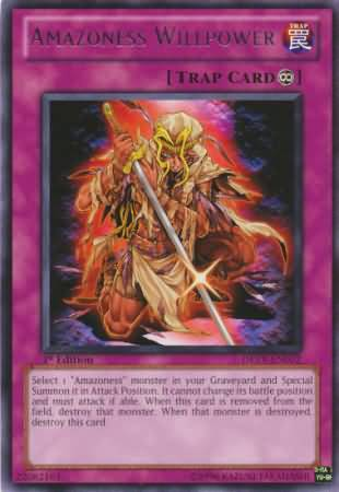 Amazoness Willpower - DREV-EN072 - Rare - 1st Edition