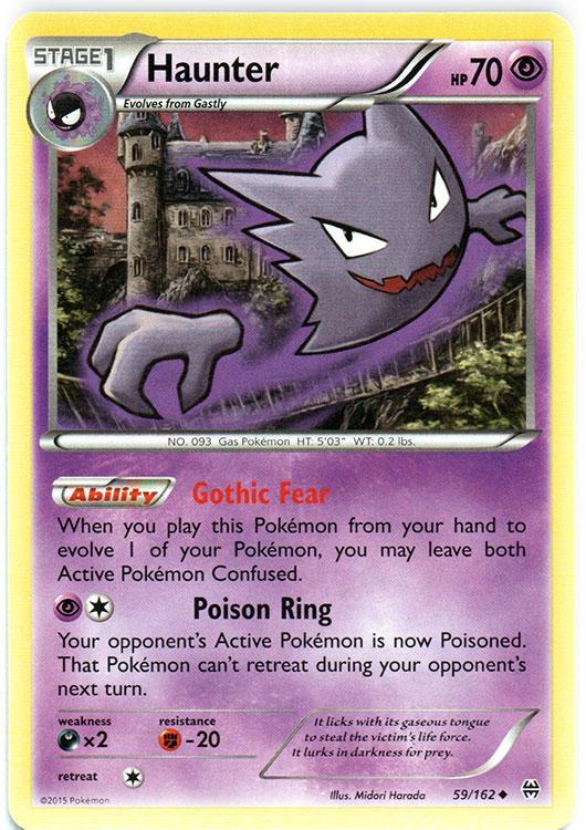 Misdreavus Common Reverse Holo Pokemon Card XY BREAKThrough 65//162