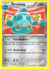 Bronzong - 96/162 - Rare - Reverse Holo on Channel Fireball