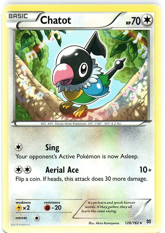 Chatot 128//162 BREAKthrough Rare Mint Pokemon Card