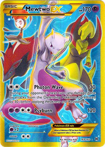 Mewtwo Ex 163 162 Secret Rare Pokemon 187 Singles