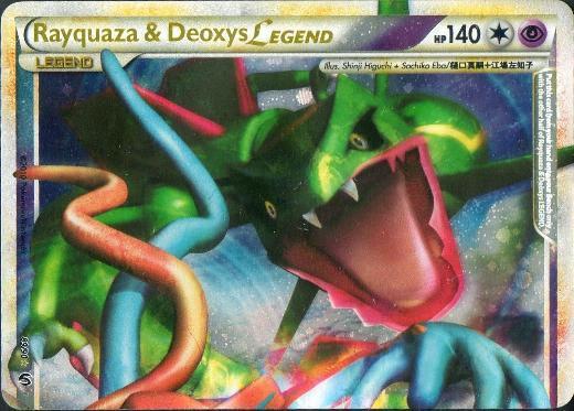 Rayquaza & Deoxys LEGEND (Top) - 89/90 - Rare Holo Legend