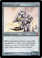 Sundering Titan - Foil on Channel Fireball