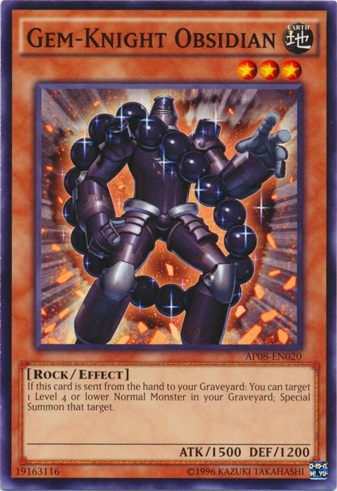 Gem-Knight Obsidian - AP08-EN020 - Common - Unlimited Edition