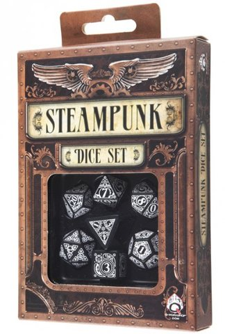 Black-White - Steampunk (Q-Workshop) - 7 Die Set