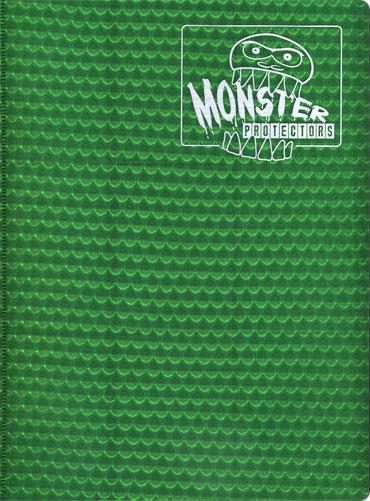 Monster Protectors 9 Pocket Holo Green Binder