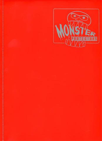 Monster Protectors 9 Pocket Matte Red Binder