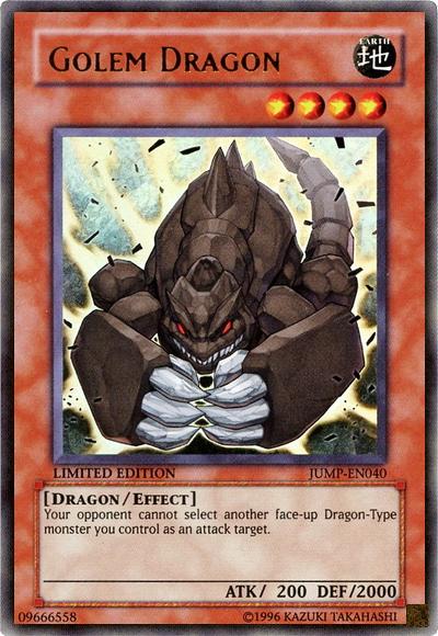 Golem Dragon - JUMP-EN040 - Ultra Rare - Limited Edition