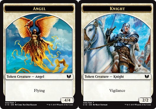 Knight Token (Vigilance) // Angel Token