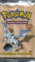 Pokemon Fossil 1st Edition Booster Pack