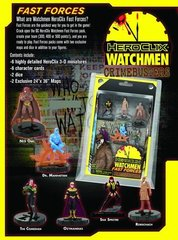 DC Heroclix Watchmen 2011 Fast Forces Deluxe Starter Game Includes 6 Figures