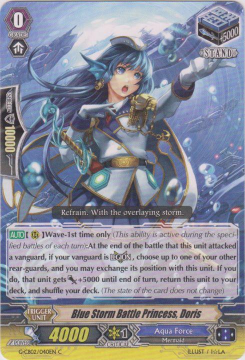 Blue Storm Battle Princess, Doris - G-CB02/040EN - C