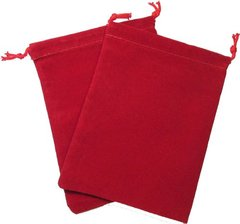 Chessex Velour Dice Bag Large Red 5