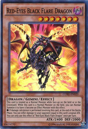 4f8b26276 Browse Clash of Rebellions. Red-Eyes Black Flare Dragon - CORE-EN020 -  Super Rare - Unlimited Edition