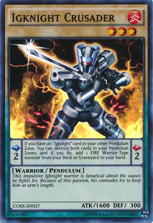 Igknight Crusader - CORE-EN027 - Super Rare - Unlimited Edition