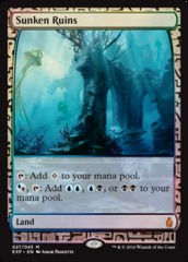 Sunken Ruins - Foil (Zendikar Expedition: Oath of the Gatewatch Lands)