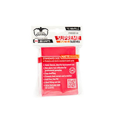 Supreme Matte Sleeves - 80ct - Red