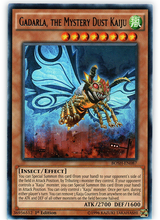 Gadarla, the Mystery Dust Kaiju - BOSH-EN087 - Rare - 1st Edition