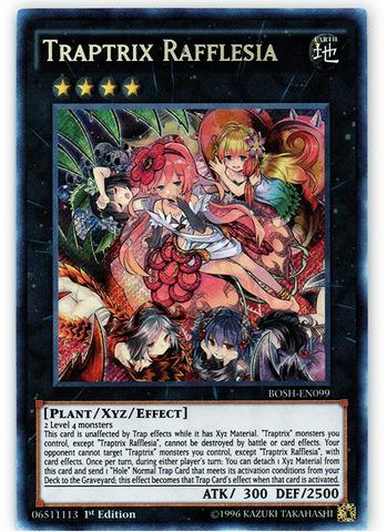 Traptrix Rafflesia - BOSH-EN099 - Secret Rare - 1st Edition