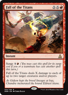 Fall of the Titans - Foil