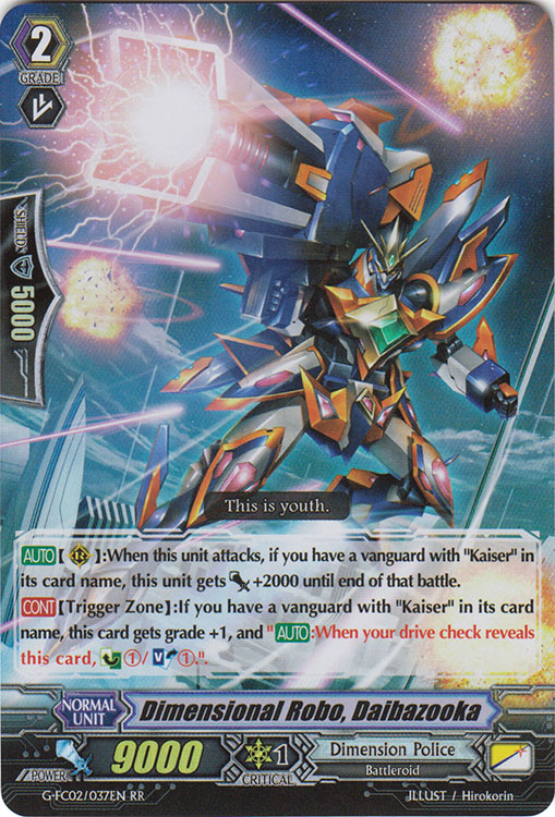 Dimensional Robo, Daibazooka - G-FC02/037EN - RR