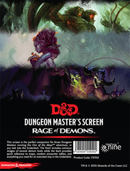 D&D 5th Edition RPG - Rage of Demons DM Screen