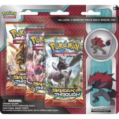 Pokemon 3 Pack Pin Blister Zoroark