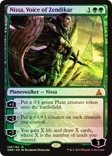 Nissa, Voice of Zendikar (Battle for Zendikar Prerelease Foil)