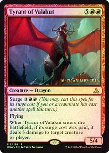 Tyrant of Valakut (OGW Prerelease Foil 16-17 January 2016)