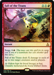 Fall of the Titans - Foil - Prerelease Promo