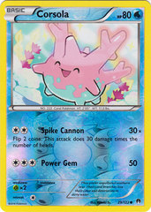 Corsola - 29/122 - Common - Reverse Holo on Channel Fireball