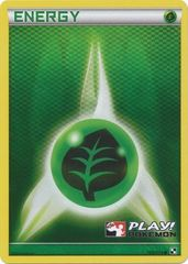 Grass Energy - 105/114 - Crosshatch Holo Play! Pokemon Promo