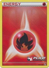 Fire Energy - 106/114 - Crosshatch Holo Play! Pokemon Promo