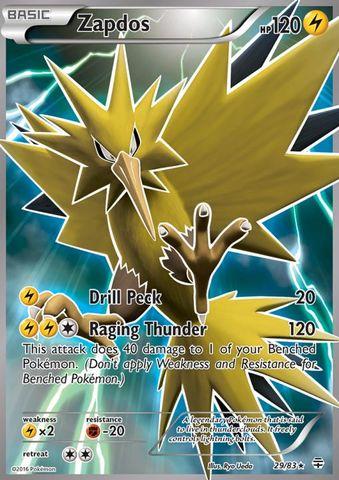 zapdos 29 83 full art ultra rare pokemon singles generations