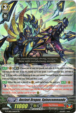 Ancient Dragon, Spinocommando - G-TCB01/014EN - RR