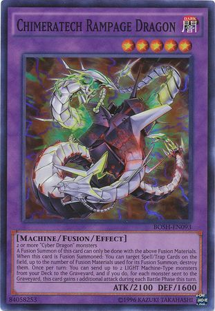 Chimeratech Rampage Dragon - BOSH-EN093 - Super Rare - Unlimited Edition