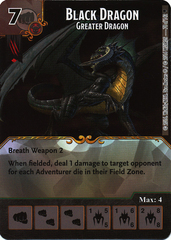 Black Dragon - Greater Dragon (Die & Card Combo)